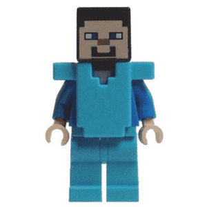 Pixelated, Brown Vest w// Strap /& Blue Jeans LEGO Minecraft MiniFigure Skin 3