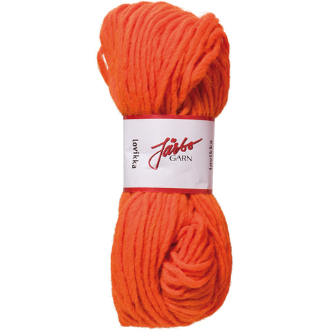 Järbo Lovikka garn i reflex orange