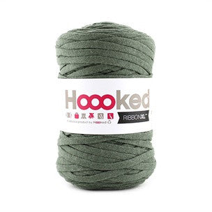 Hoooked Ribbon XL i Dried Herb farver