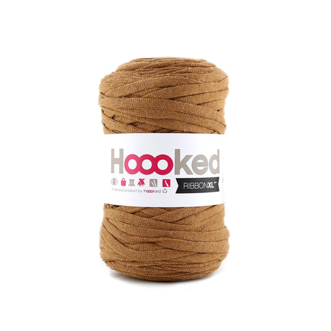 Hoooked Ribbon XL i Caramel Brown farver