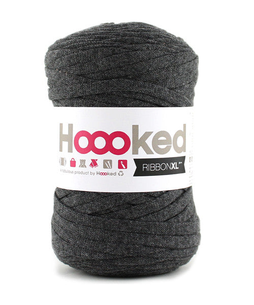 Hoooked Ribbon XL i antracite farver