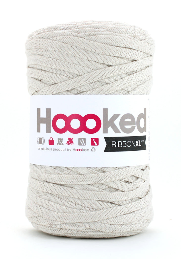 Hoooked Ribbon XL i sand farver