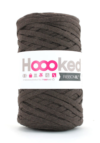 Hoooked Ribbon XL i Tobacco Brown farver
