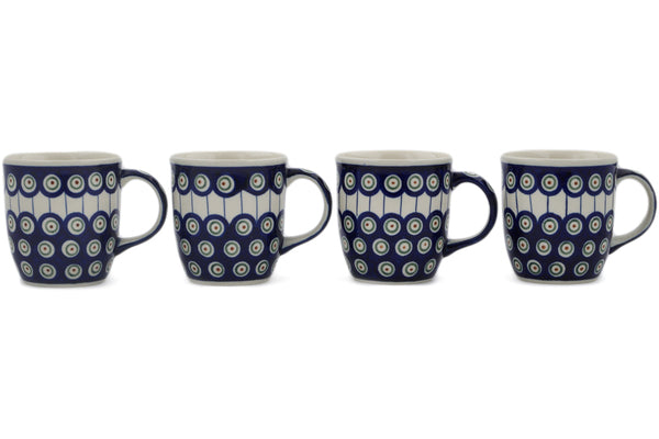 mug set of 4 in Traditional Peacock pattern 12 oz