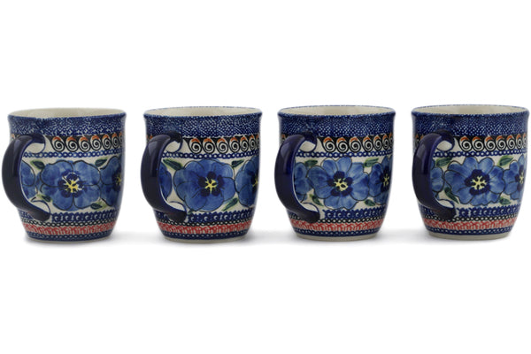 mug set of 4 in Regal Bouquet pattern UNIKAT  12 oz
