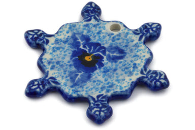 Snowflake Pendant in Deep Winter pattern UNIKAT  3""