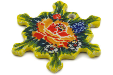 Snowflake Pendant in Splendid Morning Glow pattern UNIKAT  3""