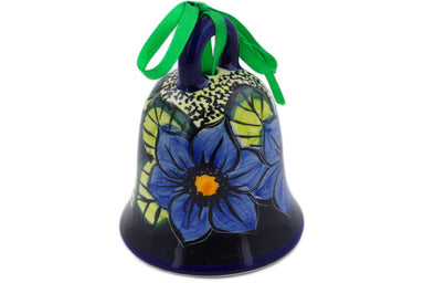 Bell Ornament in Midnight Glow pattern UNIKAT  4""