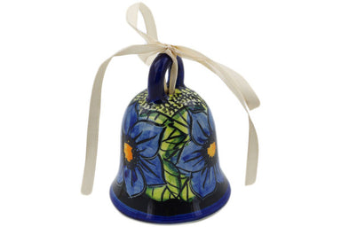 Bell Ornament in Midnight Glow pattern UNIKAT  3""