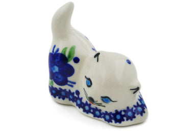 Cat Figurine in Bleu-belle Fleur pattern 2""