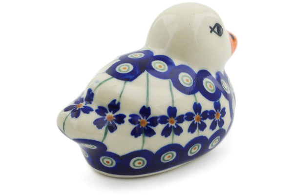 Duck Figurine in Flowering Peacock pattern 4""