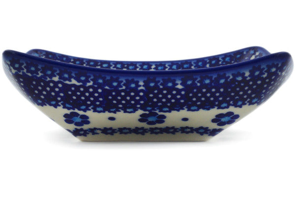 Square Bowl in Bleu-belle Fleur pattern 5""