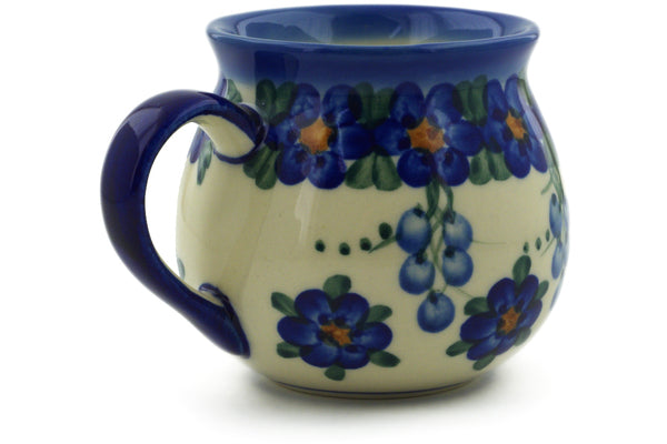 Bubble Mug in Field Of Blue pattern UNIKAT  9 oz