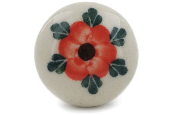 Drawer knob 1-1/2 inch in Cherry Blossoms pattern 1""