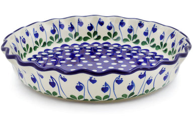 "10"" Fluted Pie Plate - Blue Bell 