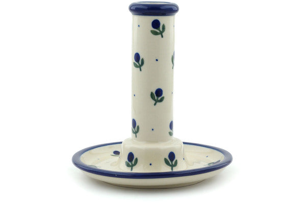 "6"" Candle Holder - Blue Buds 