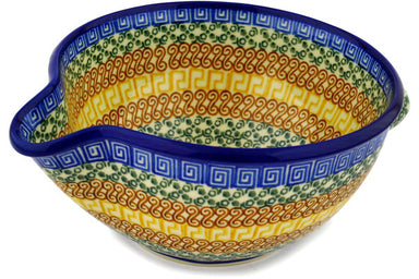 "8"" Batter Bowl - Blue Autumn 