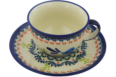 7 oz Cup with Saucer - 214ART | Polish Pottery House