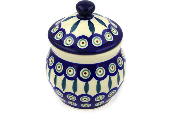 16 oz Canister - Peacock | Polish Pottery House