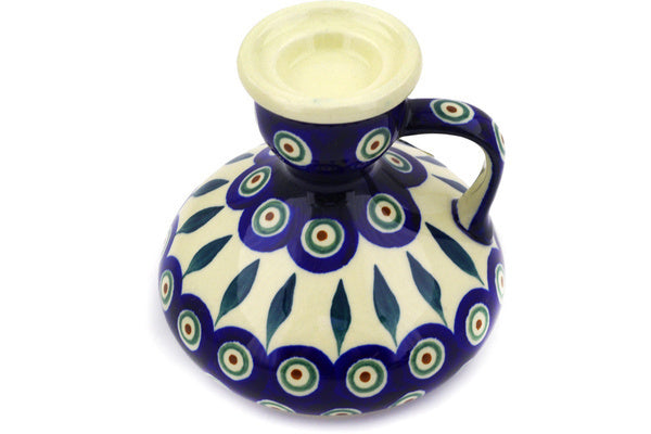 "4"" Candle Holder - Peacock 