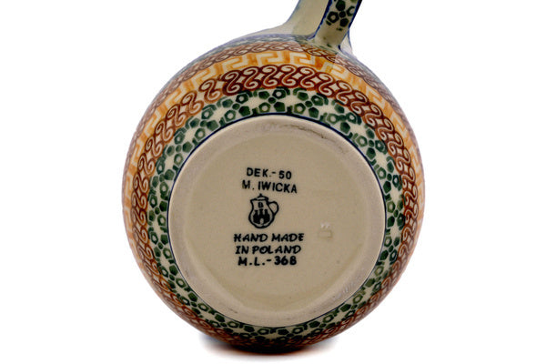 16 oz Soup Cup with Handle - Blue Autumn | Polish Pottery House