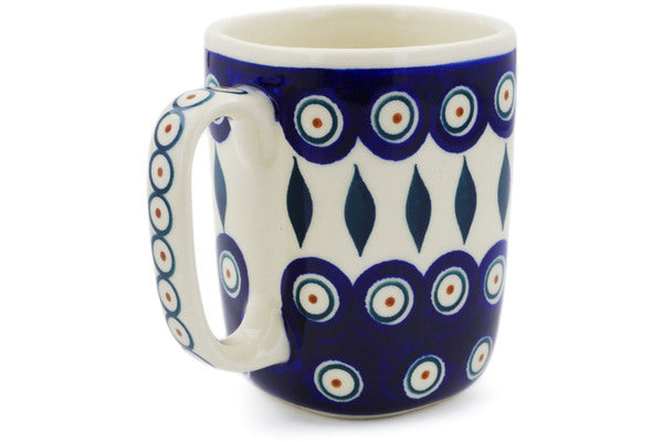 9 oz Mug - Peacock | Polish Pottery House