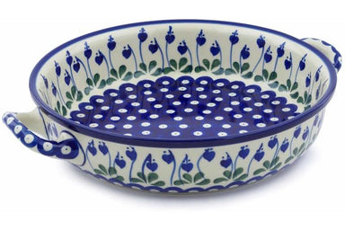 "10"" Round Baker with Handles - Blue Bell 
