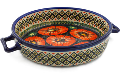 "9"" Round Baker with Handles - P4796A 