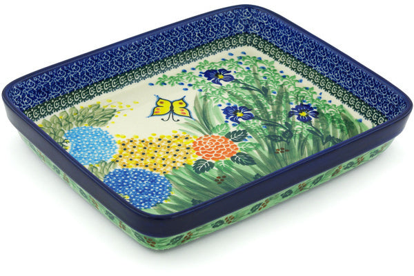 "9"" x 11"" Rectangular Baker - Spring Garden 