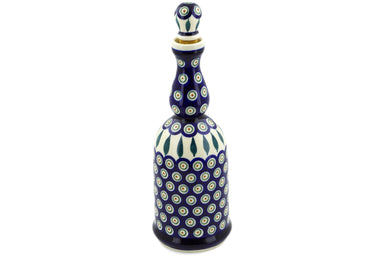4 cup Bottle - Peacock | Polish Pottery House