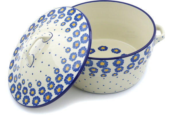 9 cup Covered Baker with Handles - P8824A | Polish Pottery House