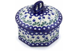 6 cup Octagon Box - 377O | Polish Pottery House