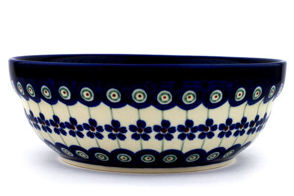 21 oz Cereal Bowl - Floral Peacock | Polish Pottery House