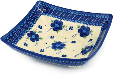 4 cup Square Bowl - D1 | Polish Pottery House