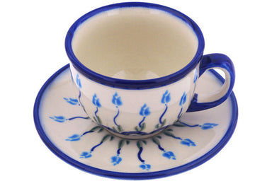 7 oz Cup with Saucer - D107 | Polish Pottery House