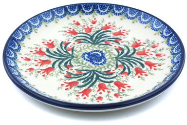 "6"" Bread Plate - Crimson Bells 