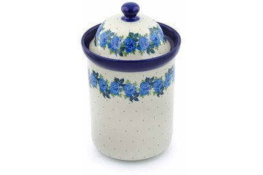 8 cup Canister - Bendikas Floral | Polish Pottery House
