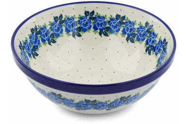8 cup Serving Bowl - Bendikas Floral | Polish Pottery House
