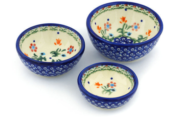 Set of 3 Nesting Bowls - D19 | Polish Pottery House