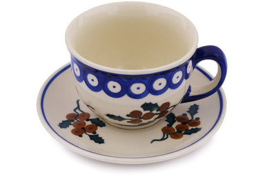 7 oz Cup with Saucer - D97 | Polish Pottery House