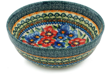 18 oz Cereal Bowl - Cottage Garden | Polish Pottery House