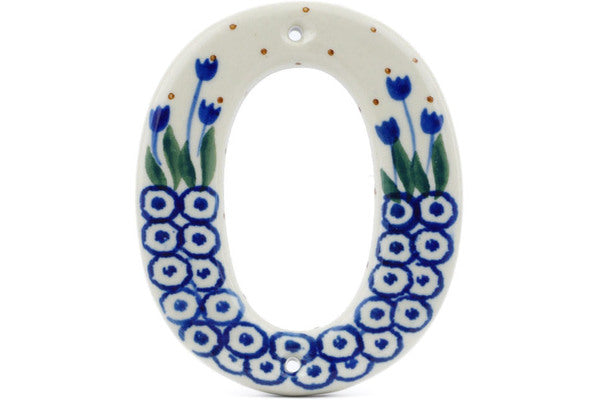"4"" #0 Hanging Number with hole - 490A 