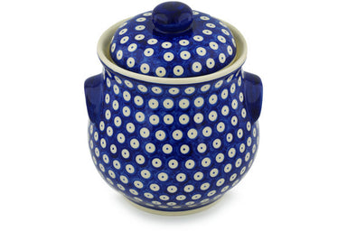 13 cup Canister - Polka Dot | Polish Pottery House