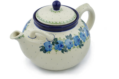 8 cup Tea Pot - Bendikas Floral | Polish Pottery House