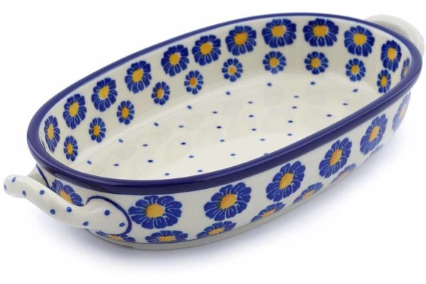 "9"" Oval Baker with Handles - P8824A 