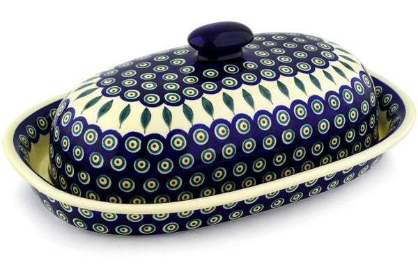 4 cup Bread Bin - Peacock | Polish Pottery House