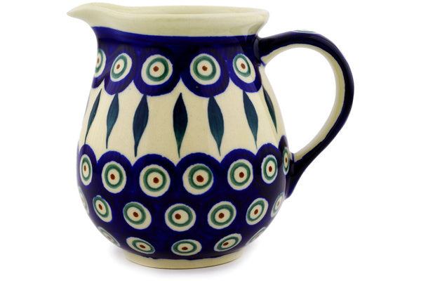 15 oz Creamer - Peacock | Polish Pottery House