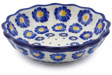5 oz Scalloped Fluted Bowl - P8824A | Polish Pottery House