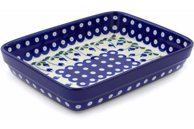 "7"" x 10"" Rectangular Baker - Blue Bell 