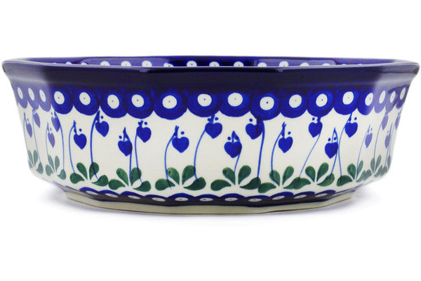 13 cup Serving Bowl - Blue Bell | Polish Pottery House
